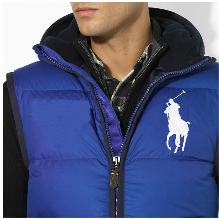 Polo Ralph Lauren Men Body Warmer Big Pony Light Blue
