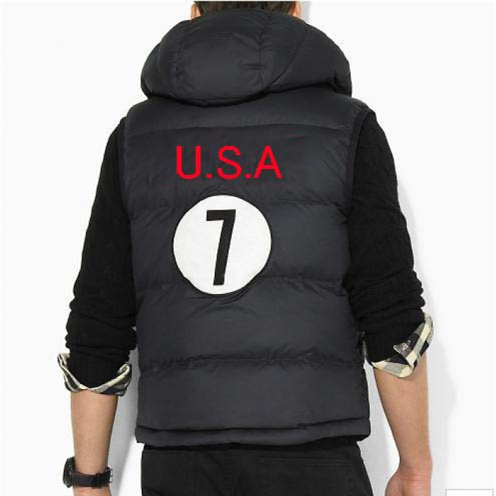 Polo Ralph Lauren Men Body Warmer Big Pony 7 USA Black