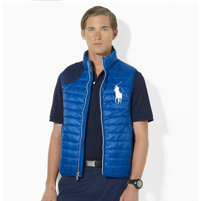 Polo Ralph Lauren Vest Men Big Pony Blue