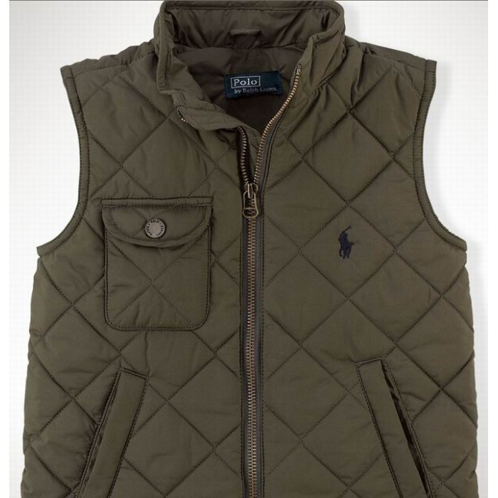 Polo Ralph Lauren Vest Men Chest Pocket Down Army