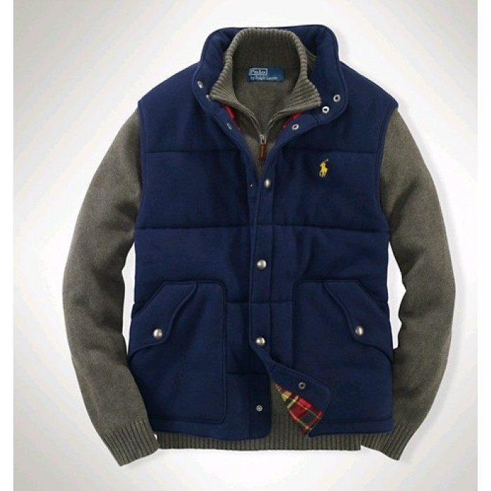 Polo Ralph Lauren Vest Men Wool Fabrics Blue
