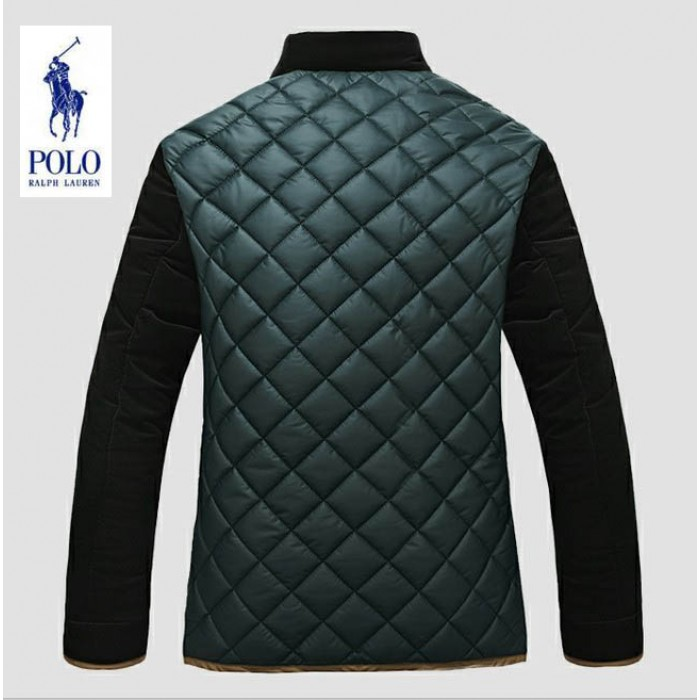 Polo Ralph Lauren Down Jacket Men Color-Block Green