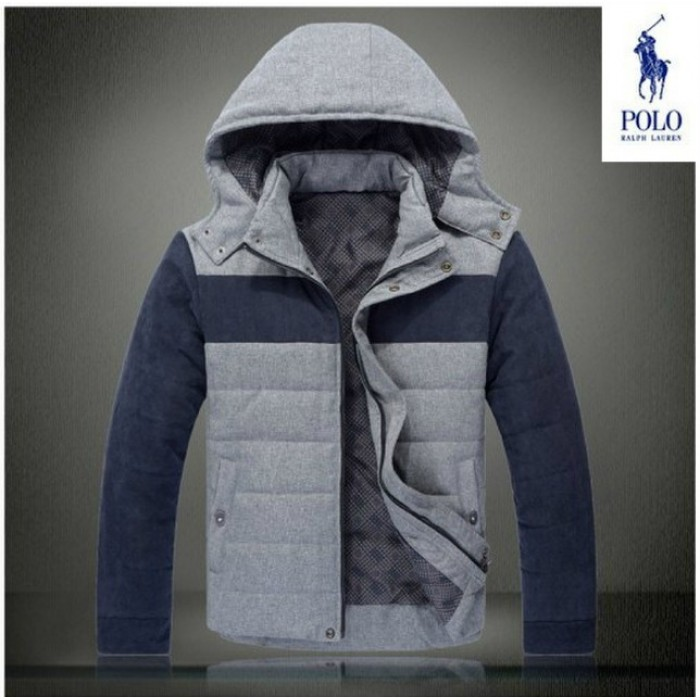 Ralph Lauren Polo Mens Down Jackets Splice Blue and Grey