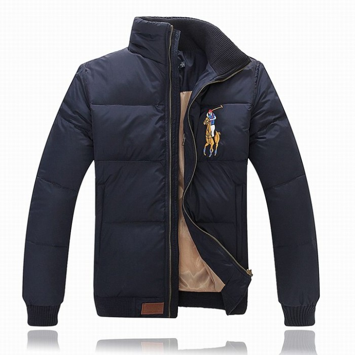Ralph Lauren Polo Mens Down Jackets Blue Big Pony