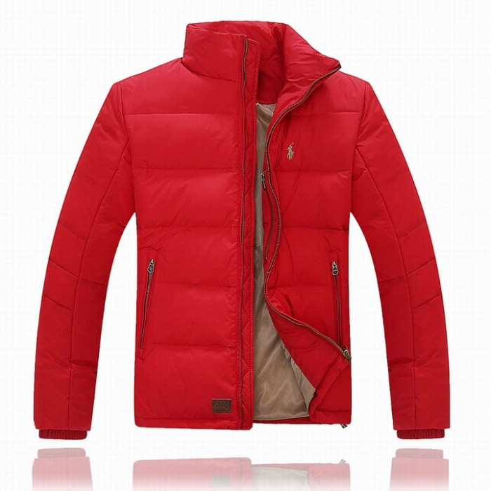 Ralph Lauren Polo Mens Down Jackets Full Red Small Pony