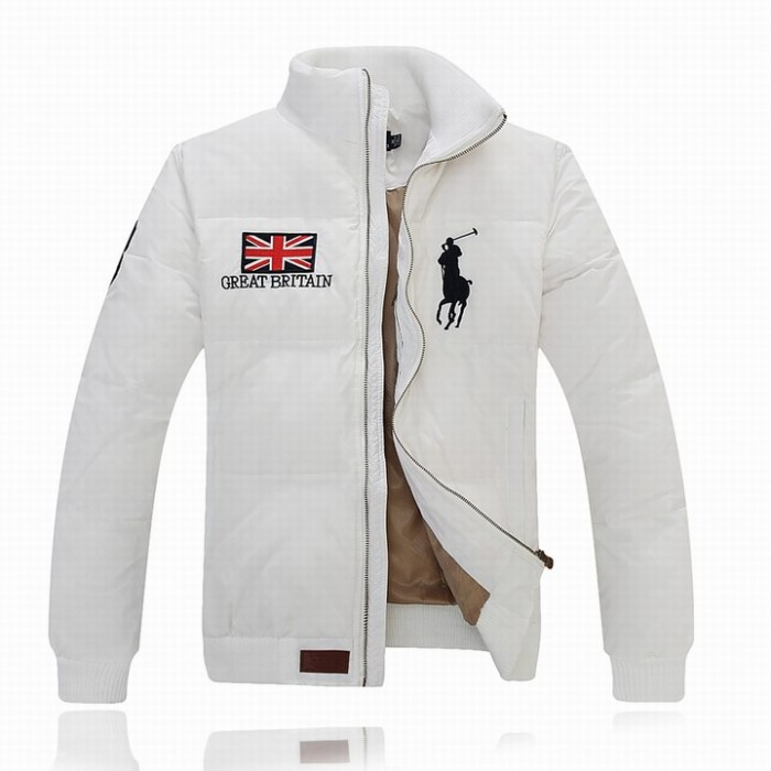 Ralph Lauren Polo Mens Flag Down Jackets Feather Coat 3 White Britain