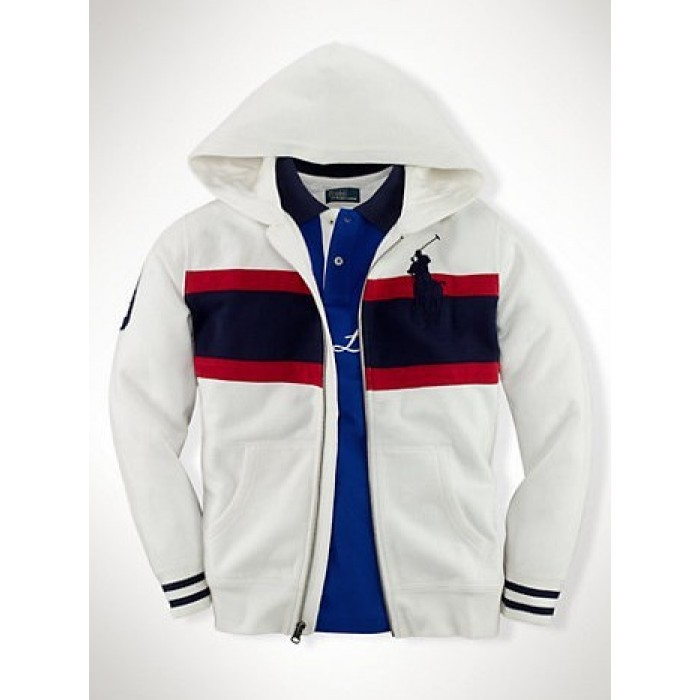 Polo Ralph Lauren Hoodies Men Check Striped White