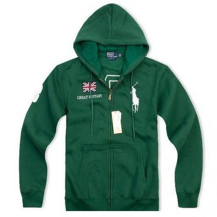 Polo Ralph Lauren Men Hoodies Great Britain Green
