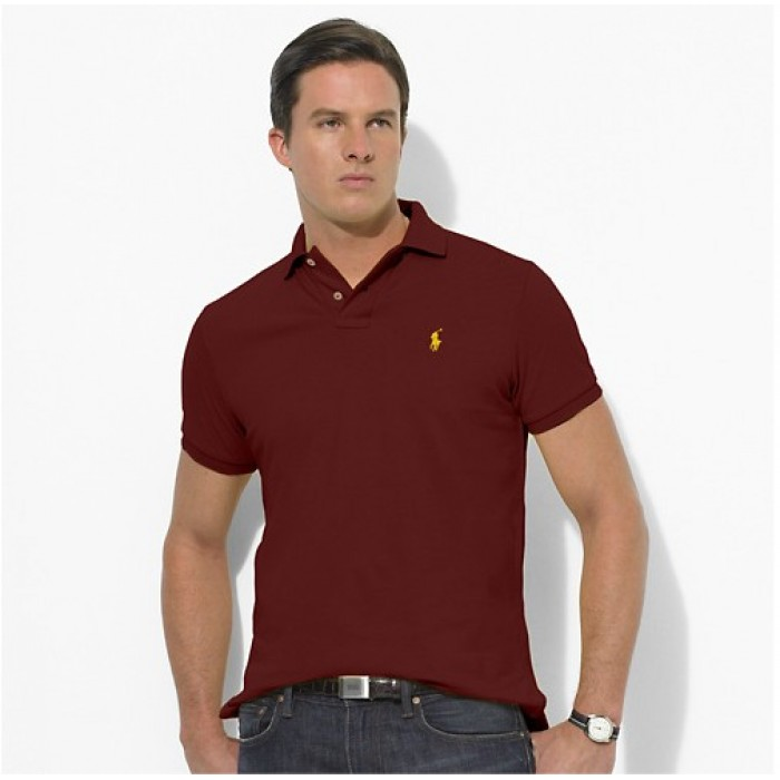 Polo Ralph Lauren Mens Polos Small Pony Brown Red