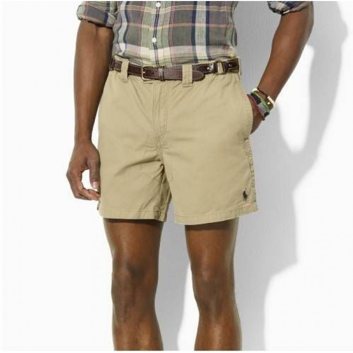 Polo Ralph Lauren Men Small Pony Shorts Sand