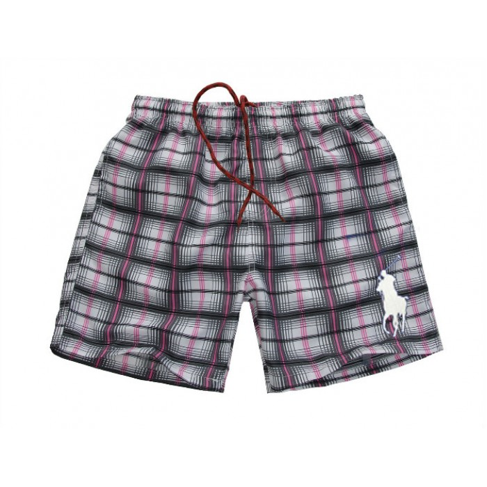 Polo Ralph Lauren Mens Beach Madras Swim Trunk Purple