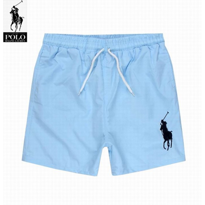 Polo Ralph Lauren Mens Lace Shorts Big Pony Sky Blue