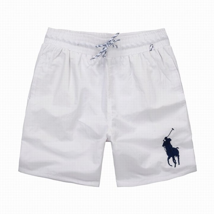 Polo Ralph Lauren Mens Shorts Stripe Lace Big Pony White