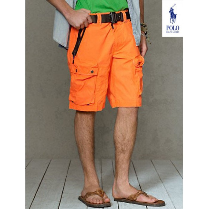 Ralph Lauren Home Outlet Shorts Mens Pony Orange