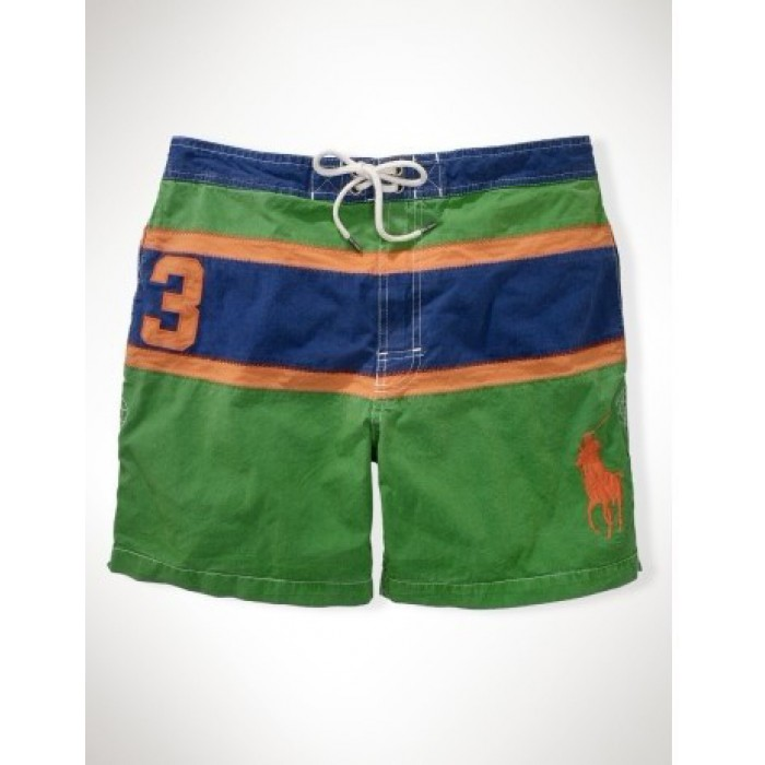 Ralph Lauren Polos Shorts Mens Strip Green For Sale