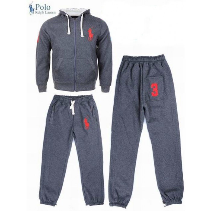 Polo Ralph Lauren Men Hood Suits Dark Gray