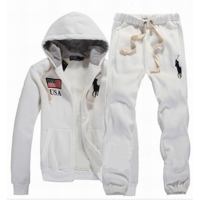 Polo Ralph Lauren Men Hood Suits White